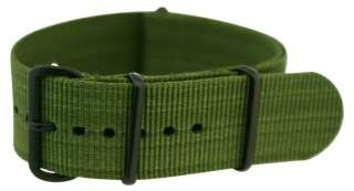 24MM PVD SOLID Nylon NATO Style MILITARY WATCH BAND Strap G 10 FITS