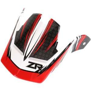 Rail Dirt Bike Motorcycle Helmet Accessories   White/Red / One Size