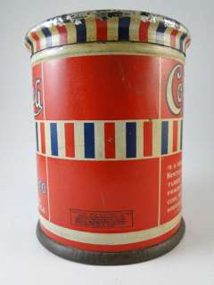 Antique Columbia Cut Plug Smoking Tobacco Tin Can  Roebuck