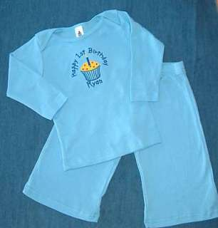 Personalized Boys 1st 2nd Birthday Cupcake Shirt OUTFIT
