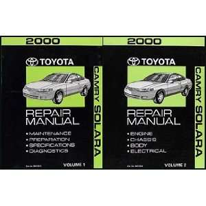 2000 Toyota Camry Solara Repair Shop Manual Original Set