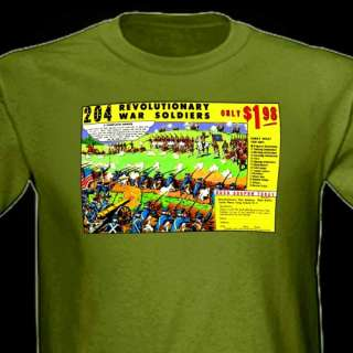 Revolutionary War Toy Soldiers Army Man Comic Ad Tee