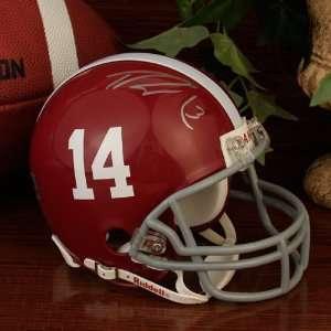 NCAA Riddell Alabama Crimson Tide #3 Trent Richardson Autographed Mini