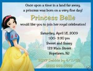 Snow White Invitations/Birthday Party Supplies/Princess
