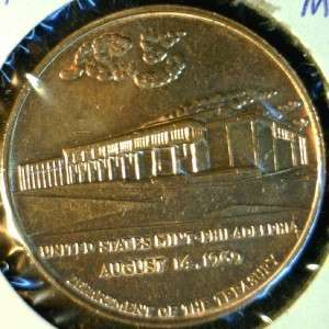 1969 Phildelphia MINT US MINT Commemorative Bronze Medal   Token