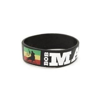 Bob Marley Lion Rasta Rubber Bracelet