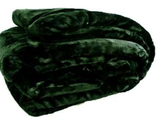 New One Blanket Queen Size Black Brown Beige Navy Solid Super Soft