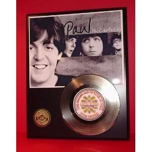 Gold Record Outlet Paul McCartney 24kt Gold Record Display