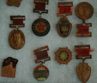 22 WWII & Military Chinese Communist Pins & Medals