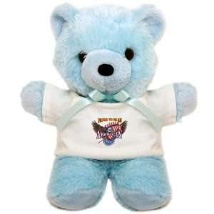 Teddy Bear Blue Proud To Be An American Bald Eagle and US