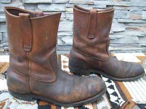 Safety Shoes Red Wing Mens Motorcycle Steel Toe Biker Riding Boots 8.5
