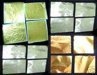 150 Metal Sheet Leaf GOLD SILVER COPPER Custom Paint