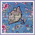 BOOAK Fabric Amy Butler Rowan *French Wallpaper Duck Egg Blue Pink Red