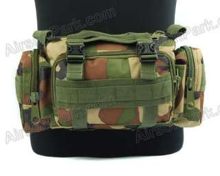 Molle Airsoft Utility Waist Shoulder Hand Bag Pouch Woodland