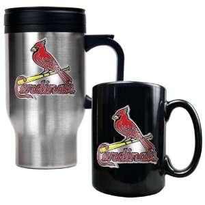 Saint Louis Cardinals MLB Stainless Steel Travel Mug & Black Ceramic