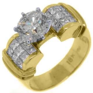 CARAT WOMENS DIAMOND ENGAGEMENT WEDDING RING ROUND PRINCESS CUT