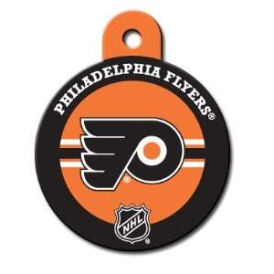 Philadelphia Flyers Round Pet ID Tag with laser engraving: Pet
