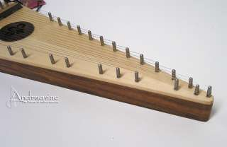 NEW LEFT HANDED CARVED SOLID SPRUCE SOPRANO PSALTERY & BOW   BLEMISHED