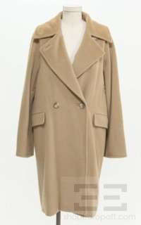 Max Mara Camel Wool & Cashmere Double Breasted Coat Size 4