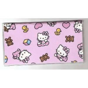 Checkbook Cover Sanrio Hello Kitty Baby Toss Pink