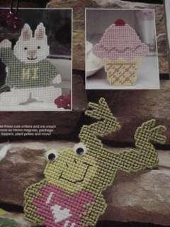 Needlepoint: Plastic Canvas Pattern, leisure arts leaflet, worsted wt