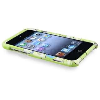Touch 4 4G 8G 16G 32G 4th Gen Hard Rubberized Case Cover GREEN FLOWER