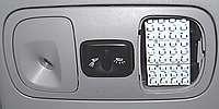 VW Dub Van 36 LED PANEL BLUE INTERIOR DOME LIGHT