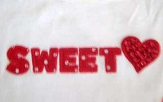 NWT GYMBOREE GIRLS 4 5 9 SWEET HEART SEQUIN SHIRT TOP