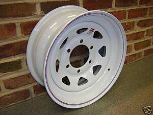15X6 6 5.5 Bolt Pattern White Spoke Trailer Wheel