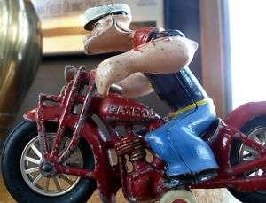 HUBLEY POPEYE PATROL HARLEY DAVIDSON MOTORCYCLE TOY 28