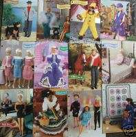Crochet Fashion Doll Patterns CLOTHES & DECOR Lot of 12