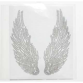 Rhinestone Iron On Transfer Hot fix Angel Wings s decor
