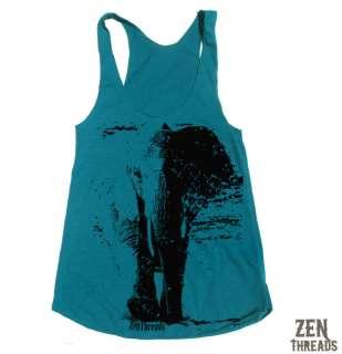 Womens ELEPHANT Tri Blend Tank Top american apparel S L