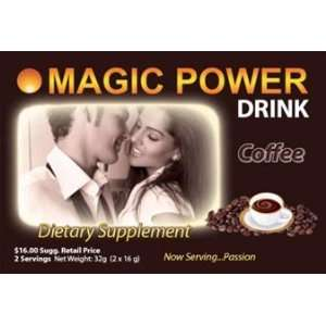 Magic Power Coffee Drink 2 Serving Box:  Grocery & Gourmet