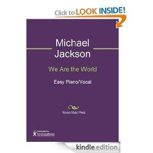 We Are the World Sheet Music (Easy Piano/Vocal) Michael Jackson