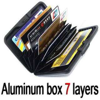 New 7 Layers Blue Aluminum cover Credit Card protect Case ID card