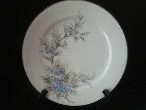 Noritake China Japan 5682 Pink Blue Flowers Salad Plate
