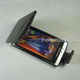 Black Leather Case Cover For Sony Ericsson Arc X12 Anzu