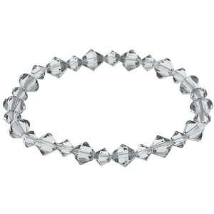 Crystale Black Swarovski Crystal Stretch Bracelet Jewelry