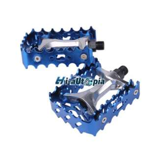 New Pair of BMX Mountain Road Bike Bicycle Pedals 9/16 Blue