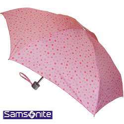 Samsonite Pink Polka Dot Umbrella / Rain Hat Sets (Pack of 2