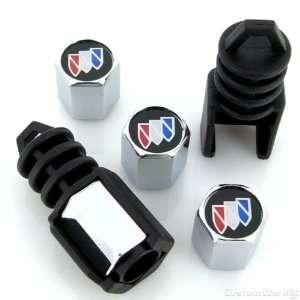 Buick Black Logo Anti Theft Tire Stem Valve Caps