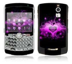 Glowing Love Heart BlackBerry Curve 8330 Decal Skin