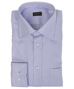 Valentino Roma Mens Basket Weave Blue Dress Shirt
