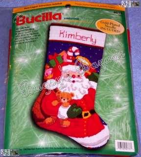 Bucilla SANTA & Toys Longstitch Needlepoint Christmas Stocking Kit