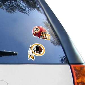NFL Washington Redskins 2 Pack 4 x 4 Die Cut Decals