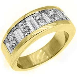 CARAT PRINCESS SQUARE CUT DIAMOND RING WEDDING BAND 18KT YELLOW GOLD