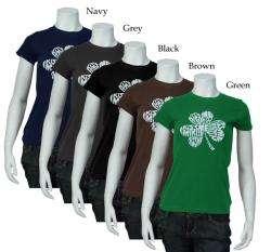 Angeles Pop Art Womens Kiss Me, Im Irish T shirt