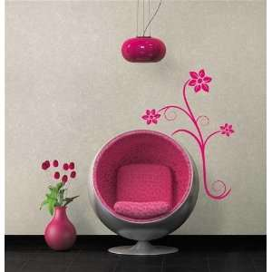 Hot Pink Flower Wall Decal