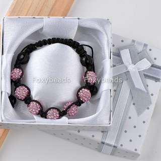 Disco Crystal Ball Bead Friendship Bracelet +Box Christmas Gift